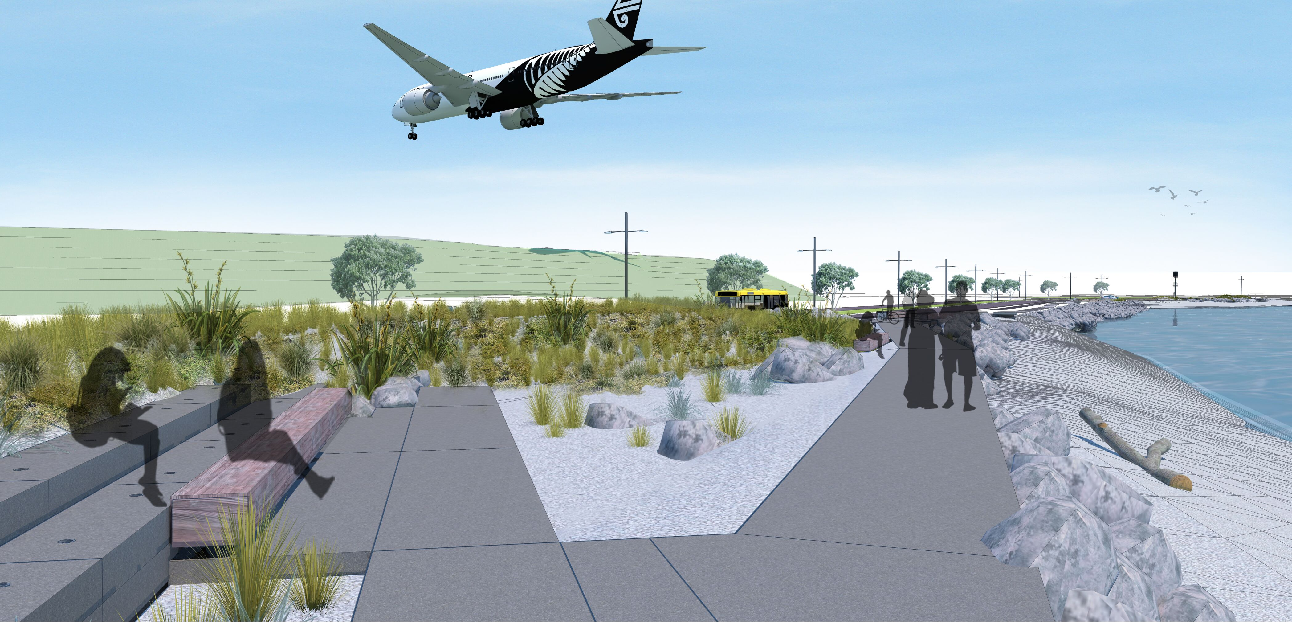 Cobham Drive under plane artists impression Aug 2019